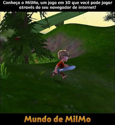 Conheça o MilMo, um jogo em 3D que você pode jogar através do seu navegador de internet! (Jogador correndo na Ilha Rosa)