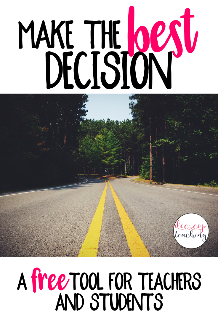 As a Father's Day tribute, this post explains dad's decision-making philosophy with a free tool to help you practice making the best decisions and teach your students to do the same. Apply this concept and tool to the real-world or the classroom!