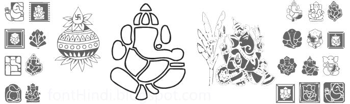 Shree Ganesha Symbols Font Hindi Fonts Collection