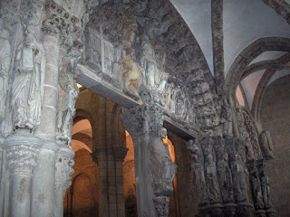 Portico da Gloria, triple portal in Santiago de Compostela Cathedral