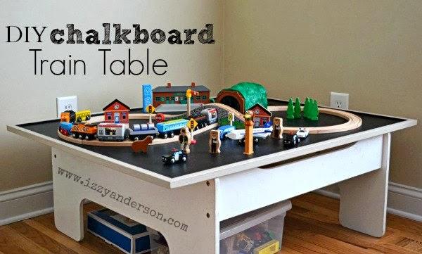 Write Snap Scrap Diy Chalkboard Train Table