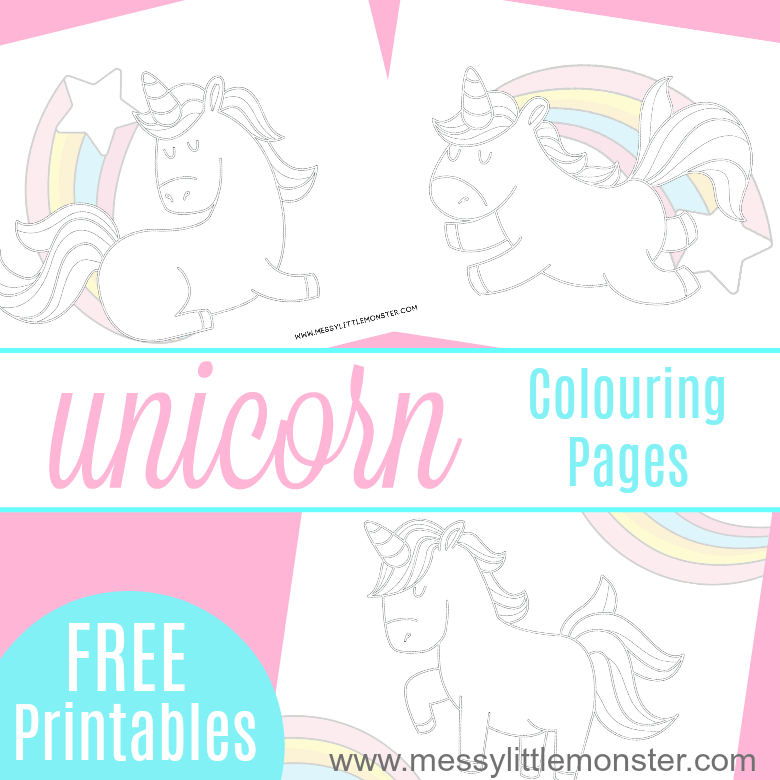 graphic relating to Free Printable Unicorn Pictures titled Free of charge printable Unicorn Colouring Webpages - Messy Small Monster