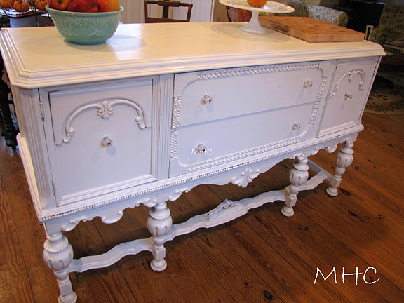 turning a buffet sideboard into a kitchen island