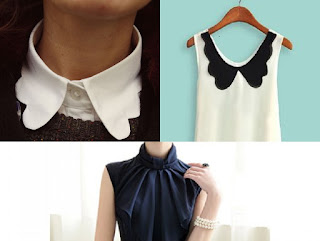 BUTTERFLY COLLAR:- It's a collar with rounded tips.  Almost nearer to wing collar