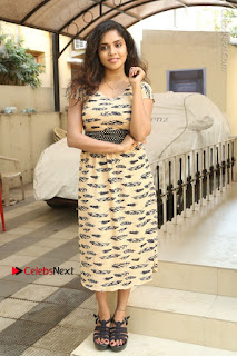 Telugu Actress Karunya Chowdary Stills in Short Dress at ATM Not Working Press Meet  0288.jpg