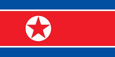 Logo Gambar Bendera Negara Korea Utara PNG JPG ukuran 400 px