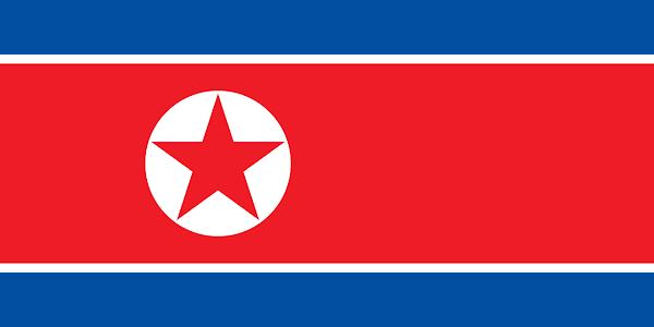 Logo Gambar Bendera Negara Korea Utara PNG JPG ukuran 600 px