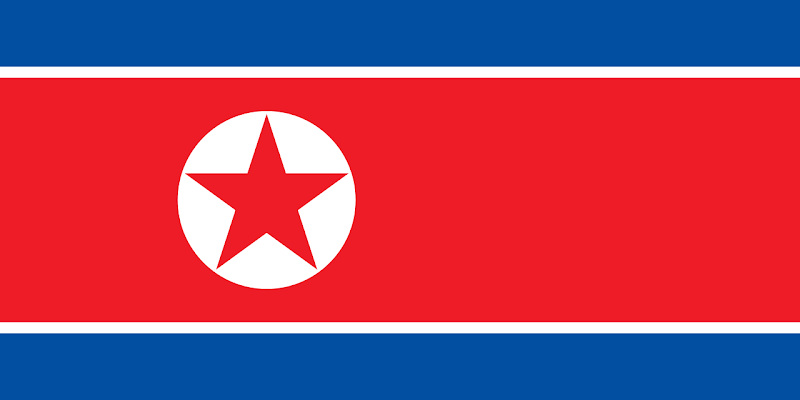 Logo Gambar Bendera Negara Korea Utara PNG JPG ukuran 800 px