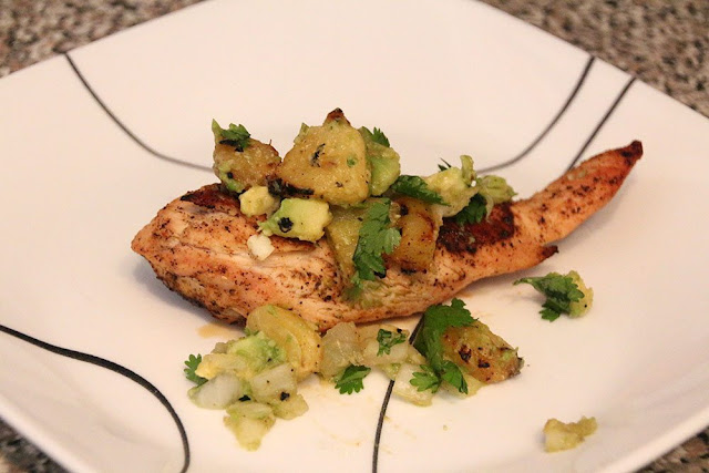 Grilled Chicken and Pineapple Salsa