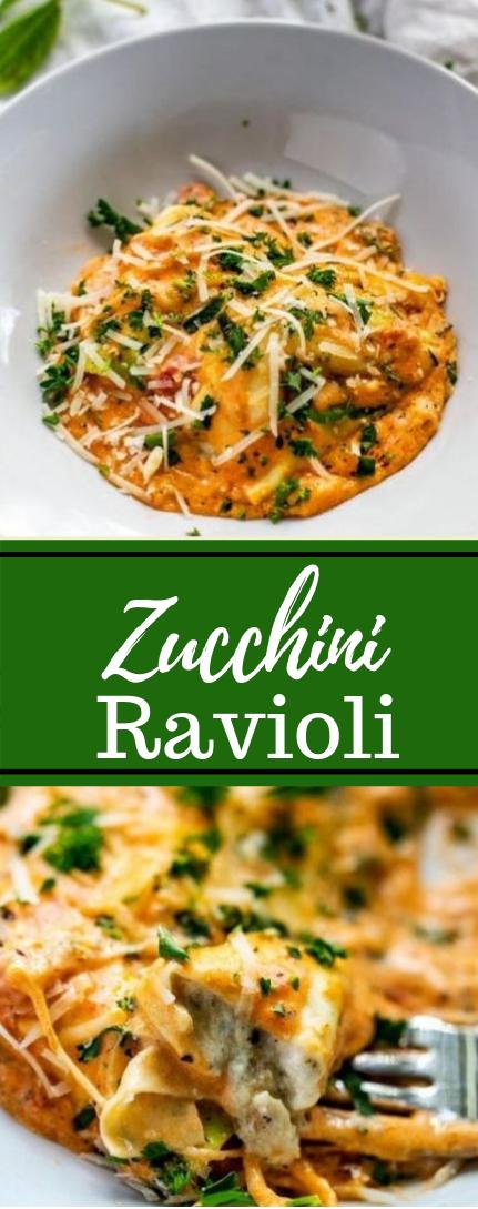 Zucchini Ravioli #recipevegetarian