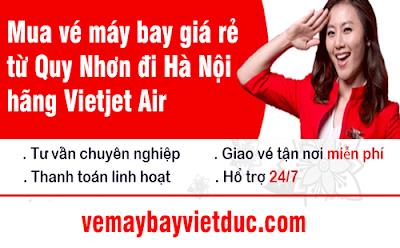 đặt mua vé máy bay giá rẻ từ Quy Nhơn đi Hà Nội