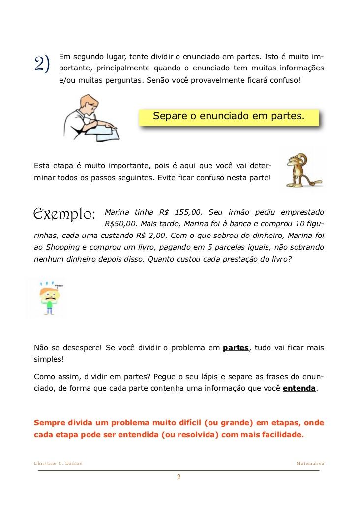 Dicas De Matematica Como Resolver Problemas Atividades De Matematica
