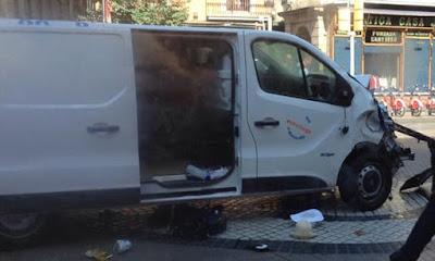 Barcelona terror attack van