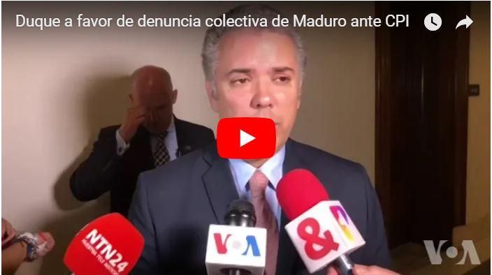 Iván Duque encabeza denuncia colectiva contra Maduro a al Corte Penal
