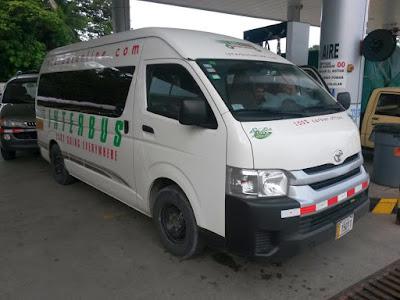 Minibus de Interbus en Costa Rica