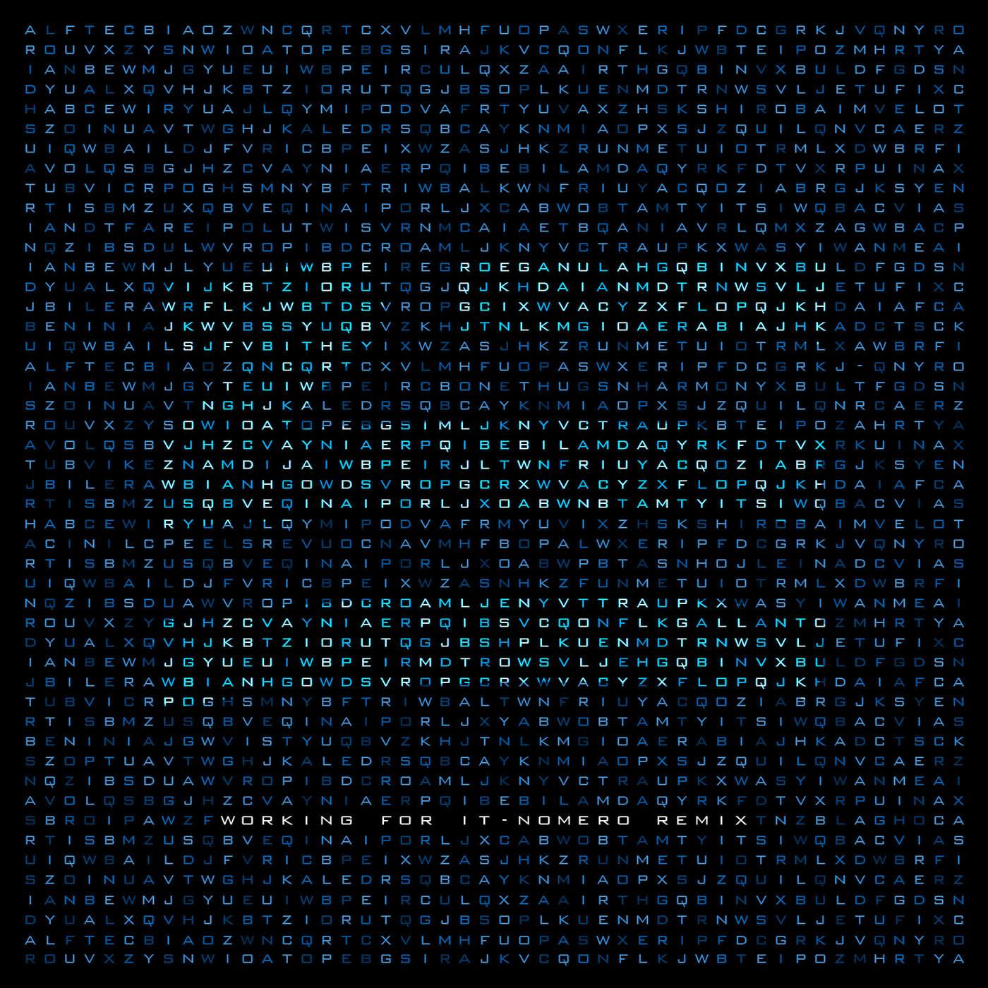 ZHU - Working for It (Nomero Remix) - Single Cover