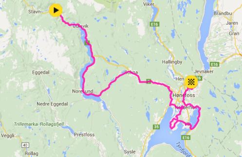 kart flå Startlister: Tour of Norway 2016 4. etappe Flå Eggemoen kart