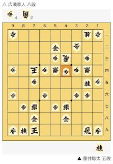 朝日杯将棋オープン戦決勝藤井聡太 五段 対 広瀬章人 八段2
