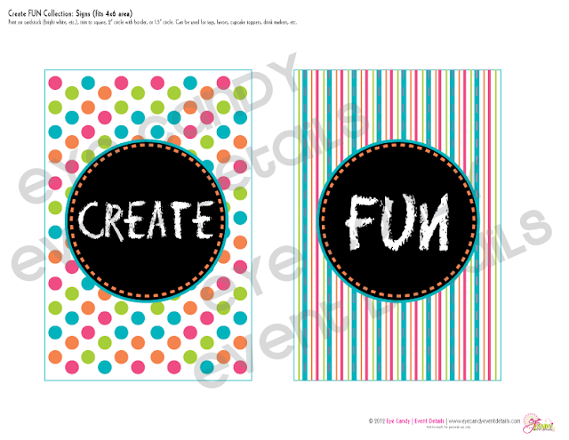 sign for art party picnic, signs of art party picnic collection, polka dots