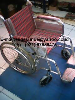 jual kursi roda almunium baru dengan harga murah