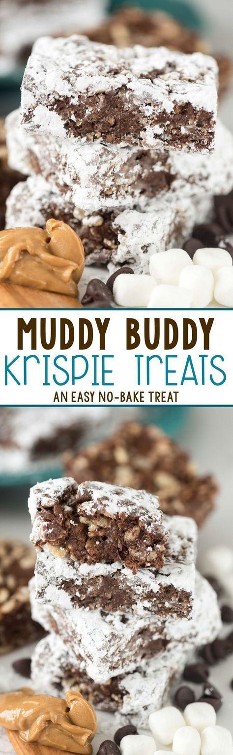 Muddy Buddy Krispie Treats