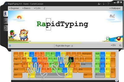 Belajar Mengetik dengan 10 Jari Menggunakan Aplikasi Rapid Typing