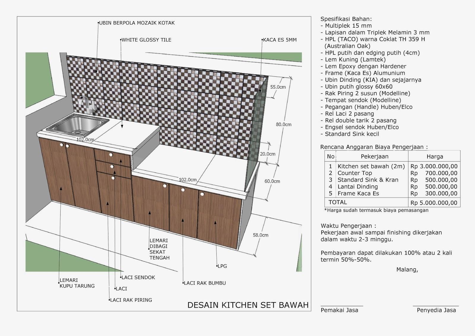 Bawah Kitchen Set Architecture Modern Idea