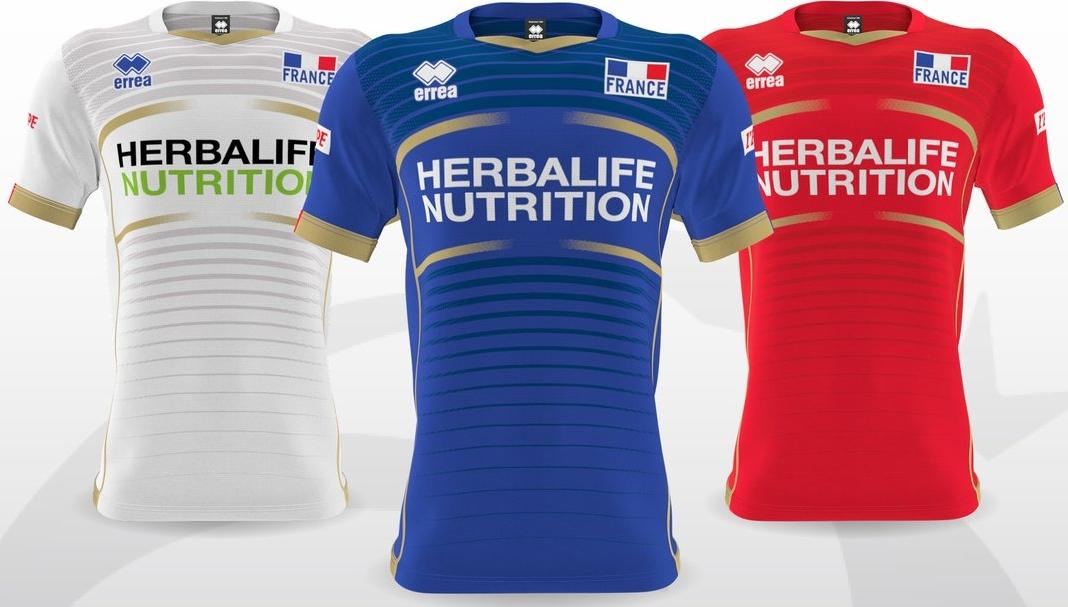 Errea divulga as novas camisas da seleção de vôlei da França - Show de  Camisas c30e517b0b7c9