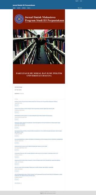 Jurnal Ilmiah D3 Perpustakaan Udayana