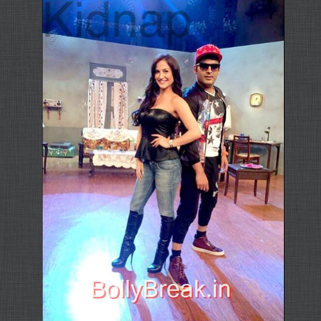 elli avram , with kapil sharma , on the set of comedy nights , music , comedy , thriller , ki ski sk o pya rk ar u ,, Elli Avram Pics in tight Jeans