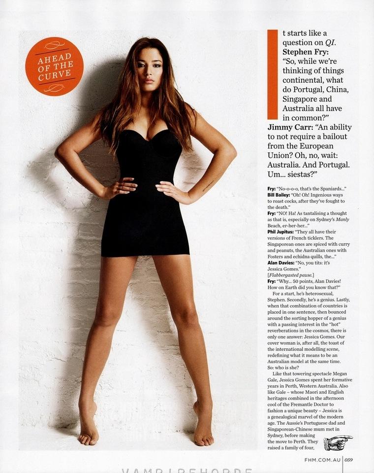 Jessica Gomes Covers Fhm Magazine  Bootymotiontv-5363