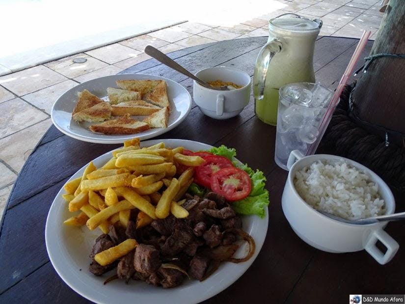 Onde ficar em Natal (RN) - comida no D Beach Resort