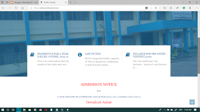 D.EL.ED. 2019-2021 Admit Card is  released, How to download Your Admit card