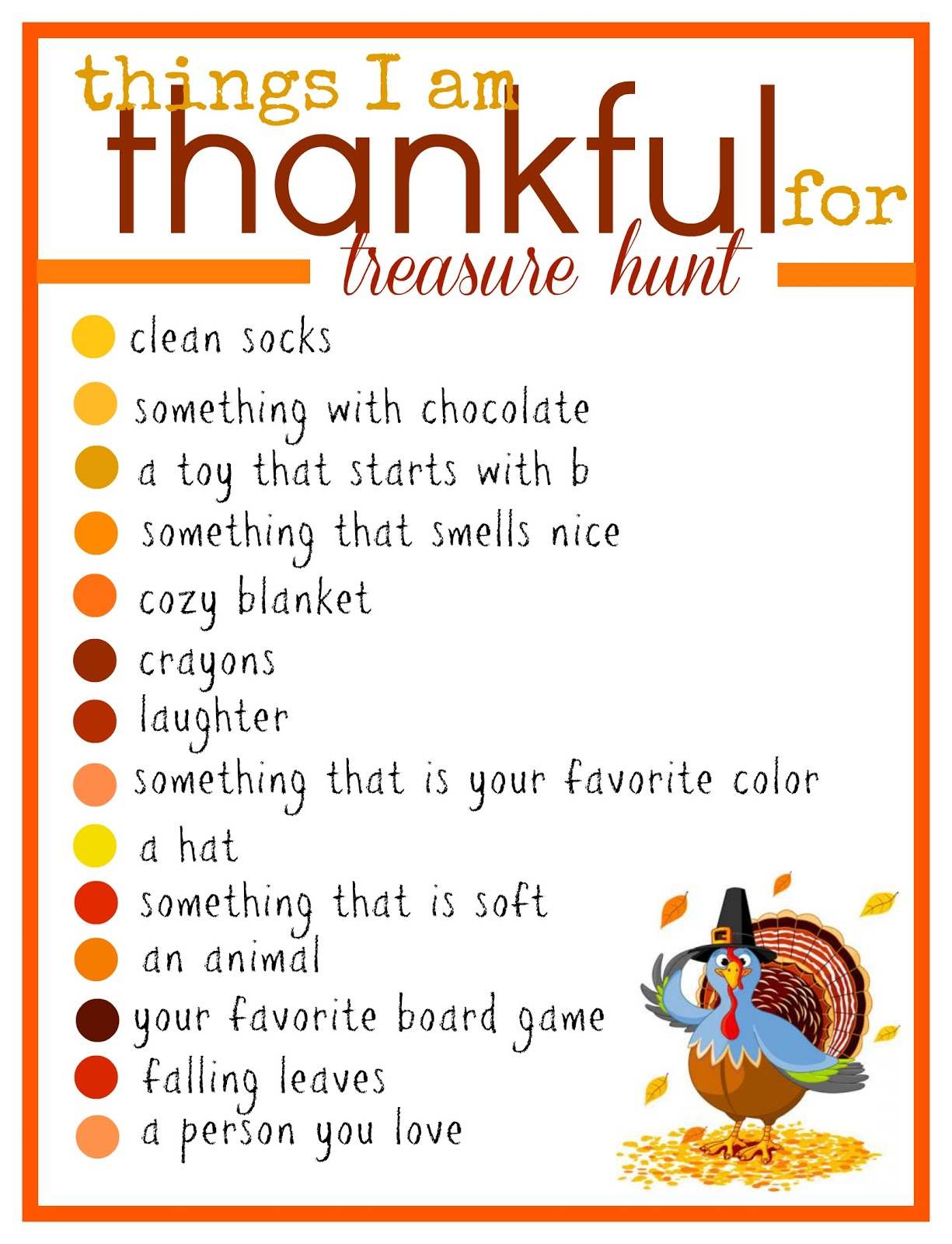 A Thanksgiving Treasure Hunt