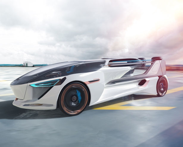This AeroMobil 5.0 VTOL Concept Flying Car Can Takeoff from Any Road