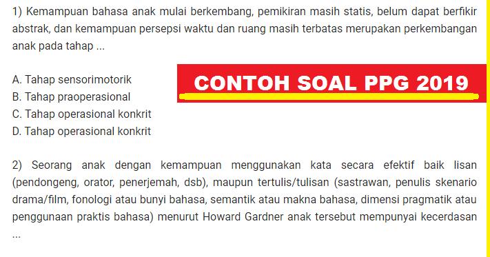 Contoh Soal Ppg 2019 Sd Kunci Jawaban Info Pendidikan Terbaru