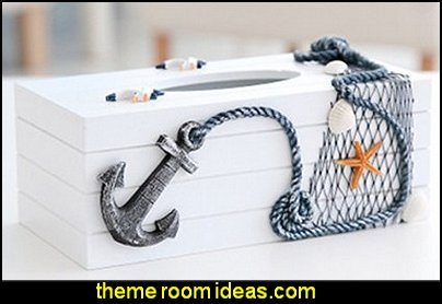 Anchor Hand Crafted Wooden Tissue Box Dispenser, Auto Decorative Tissue Box Cover