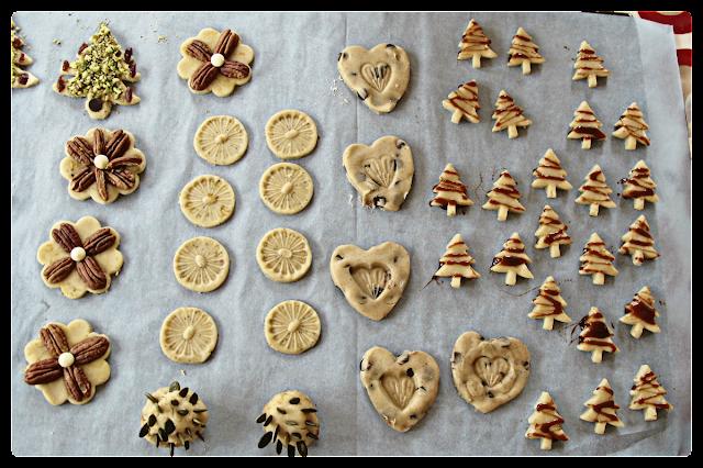 Biscuit making at Sue Fudge's house, Dorset.