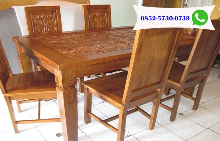 Meja Makan Kayu Jati Jual Mebel Furniture Jati Distributors Grosir