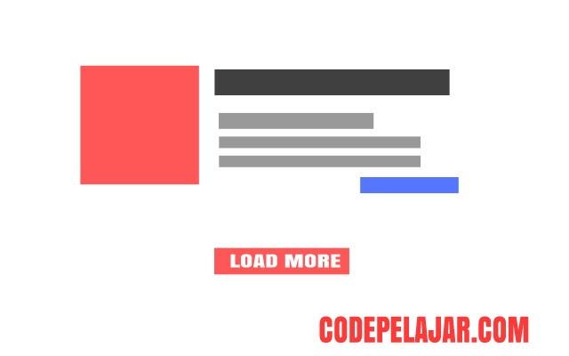 Cara Mudah Memasang Load More Post di Blog 100% Work