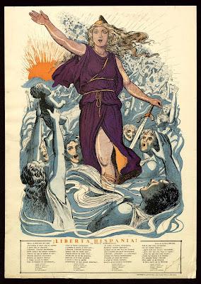 liberta hispania cartel editado por j sanxo con texto de laura brunet