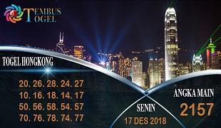 Prediksi Angka Togel Hongkong Senin 17 Desember 2018