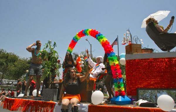 Spa float West Hollywood Pride Parade 2014