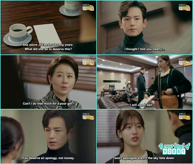 noh eul take 1 million dollar from ji taek mother - Uncontrollably Fond - Episode 14 Review
