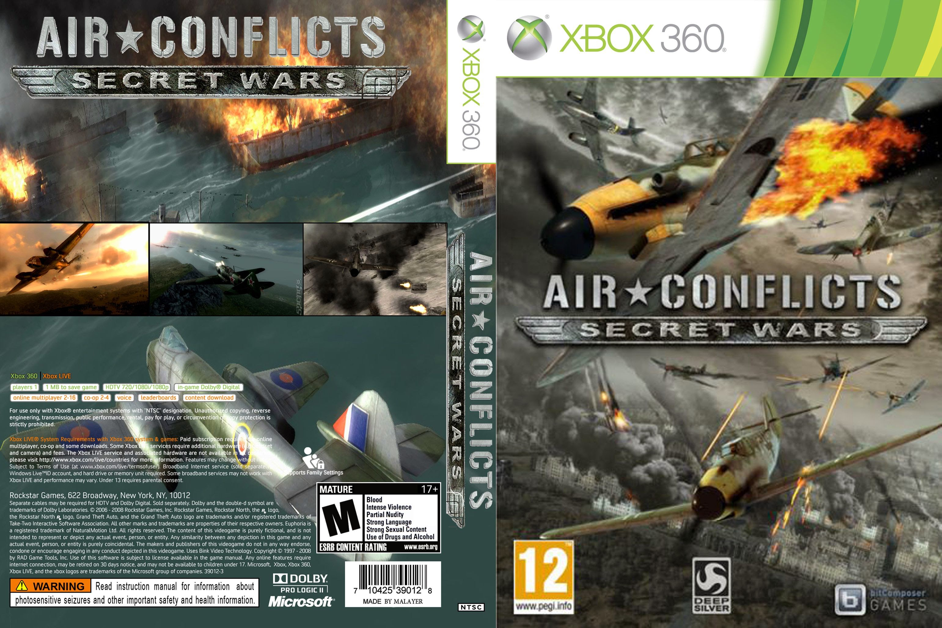 Capa Air Conflicts Secret Wars Xbox 360