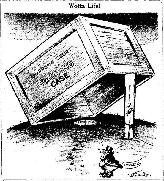 Supreme Court Patronage El Paso Herald Post Mar on Legislative Branch Political Cartoons