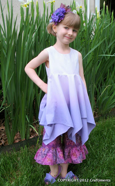 Dip Dyed Ombre Handkerchief Top from Craftiments.com