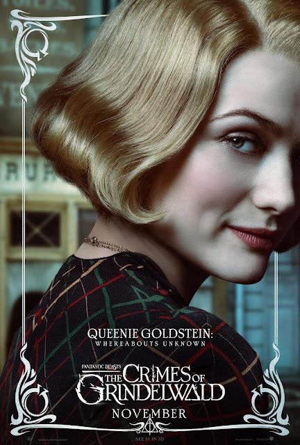 Pôsteres dos personagens de 'Os Crimes de Grindelwald' são divulgados | Queenie Goldstein | Ordem da Fênix Brasileira