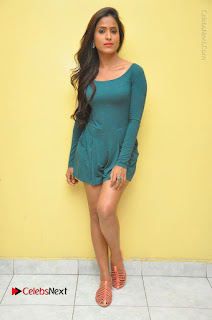 Telugu Actress Prasanthi Stills in Green Short Dress at Swachh Hyderabad Cricket Press Meet  0125.JPG