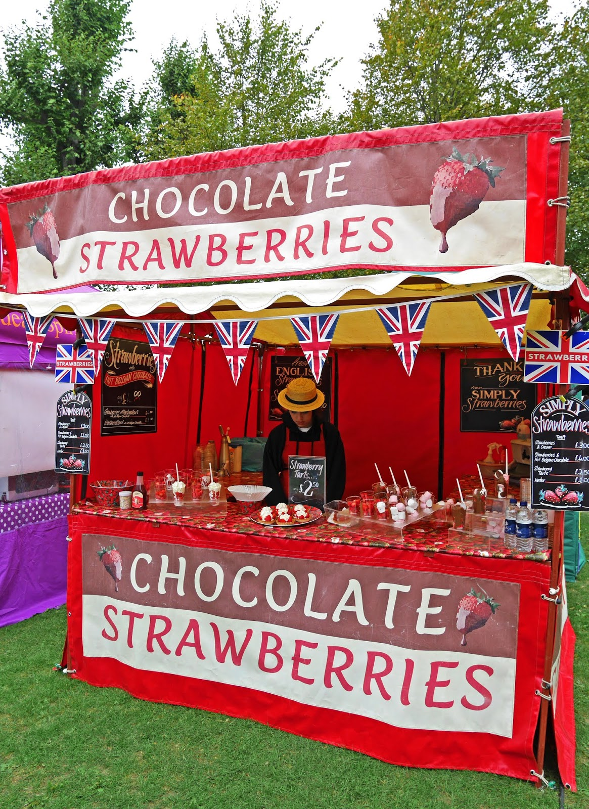 Chocolate Strawberries at the Canterbury Food Festival